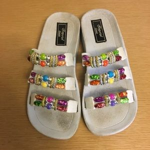 Imperial Sandals Jeweled Slip Ons